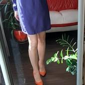 Легкое синие красивое платье р S + набор новой бижутерии в коробке в прекрасн сост