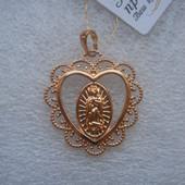 Ажурная ладанка Божья Матерь медсплав, покрытие золотом 18К/585 пробы