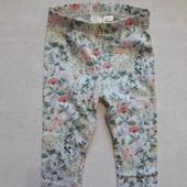 Лосинки весенней расцветки на малышку от H&M, 68см
