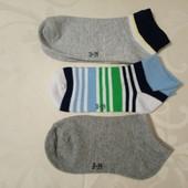Lupilu Германия Набор 3 пары коттоновых летних низких носочков 31-34р Фото на выбор