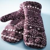 Зимние варежки на флисе от Tchibo(Германия), дышащий материал, размер универсальный