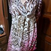 Легкое летнее платье 40-42 размер Можно для беременной,от груди свободное