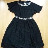 Много лотов,собирайте!шикарное шифоновое платье,44 размер