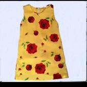 Крутое, стильное яркое платье в принт на 3 и на 6 лет. На выбор