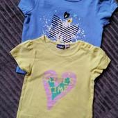 lupilu.комплект из двух хлопковых футболок 86/92 замеры