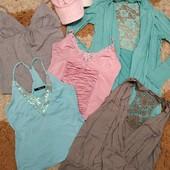 Пакет одежды: 4 майки, кардиган и 2 козырька, с-м