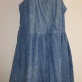 Лёгкий джинсовый сарафан-варёнка 46/48 р,пог 47 см