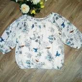 Шикарная блуза с красивым принтом. Состояние новой