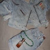 Джинсовая винтажная куртка,крутая модная качественная