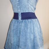 джинсовое платье-бандо,м-ка,пог-42-47 см