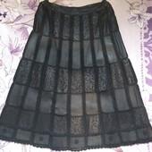 Коженая юбка натуральная размер xxl,xxxl