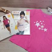 Сток!!! Шикарный лот для девочки! 2 футболки и шортики с клубничками! 110/116! Описание!