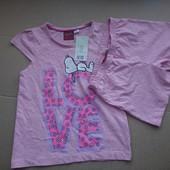 Lupilu комплект шорты и футболка 98-104