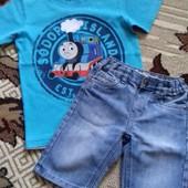 Шорты джинс плюс футболка.