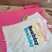 Германия!!! Лот из 2 крутых коттоновых футболок для девочки! 146/152!