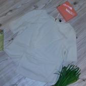 Шикарная блузка с молнией на спинке р-р 48