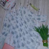 Шикарная шифоновая блузка р-р М/Л