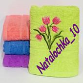 Банное полотенце Тюльпаны, 140*70см, лот 1шт. Турция