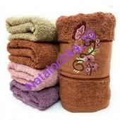 Лицевое полотенце Сакура с бабочкой, 100*50см, лот 1шт. Турция. Плотное