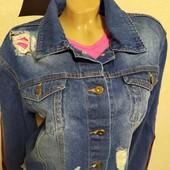 Очень модная джинсовая куртка !!оверс сацз