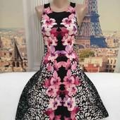 Платье в цветочный принт, H&M, размер XS.