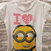 Minion made футболка на 122-128 см