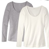 комплект: две женские стильные футболки с длинным рукавом от Esmara. Германия.