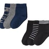 6 пар. Хлопковых носочков Lupilu®, р.23-26, длина пятка-носочек 15/25 см.(цвета наборов на выбор)