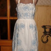 Качество!!! Летнее супер платьице с вышивкой и перфорацией, от бренда Monsoon, без следов носки