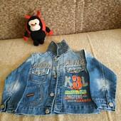 джинсовая куртка- пиджак