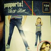 р.134. чудові джинси super skinny fit Pepperts by heidi klum ,