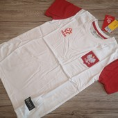 Польша! Коттоновая футболка на мальчика! Сборная Польша, оригинал! 140 см рост