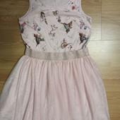 Платье с фатинновой юбкой.10 лет.