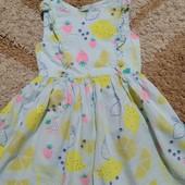 Милое хлопковое платье Bluezoo малышке 3-4 лет, рост 104 см