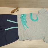 Германия!!! Суперовый лот для мальчика! Коттоновая футболка 110/116 и Бермуды 116!