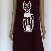 Красивое женское платье-сарафан, хлопок, египетская кошка 46-48р