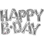 Фольгированные шарики-надписи Happy B-day