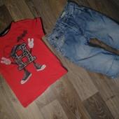 Лот для мальчика футболка+шорты 6-8 лет