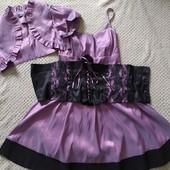 Народна сукня на бретелях + далеко + корсет