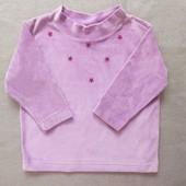 Велюровый свитерок little theore англия на девочку 2-3 года.
