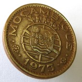 монета Мозамбик 1 эскудо, 1973
