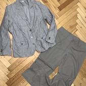 Пиджак лен-котон 50р + брюки котон в подарок! Замеры