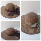 Шляпа женская 56-58 с широкими полями