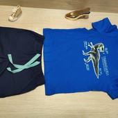 Германия!!! Красивый лот для мальчика! Коттоновая футболка 86/92 и Бермуды 86!