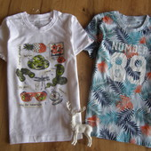 Lupilu комплект футболок мальчику 4-6 лет рост 110-116 Германия