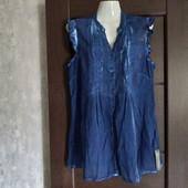 Фирменная новая коттоновая блуза под варёный джинс р.14-16