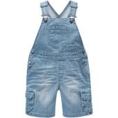 Летний джинсовый комбинезон Topolino c утяжкой пояса. Blue denim 100% хлопок