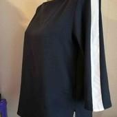 esmara.стильная блуза с ломпасами на рукавах евро 40+6 замеры