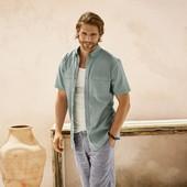 Шикарная льняная рубашка Livergy Германия размер XL 43/44