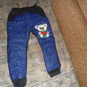 Качественные, стильные,теплые штанишки на рост 100-110 см. новые. замеры в описании
